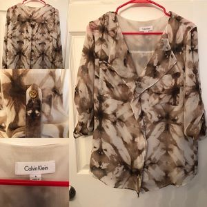Patterned Calvin Klein Blouse